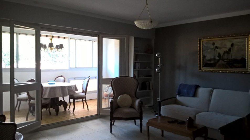 Location meublé Germont Amélie séjour & loggia